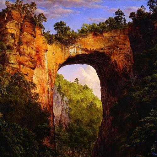 Frederic Edwin Church - The Natural Bridge, Virginia