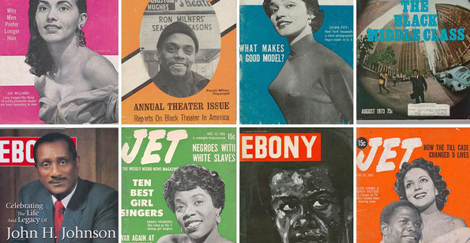 Ebony and Jet magazine covers